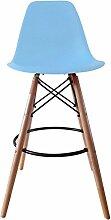 Lying Bar Stuhl, Cold Drinks Bar Hocker Bar Stuhl Massivholz Einfache Freizeit Salverform Zurück Stahl Holz Lager Stabilität Haushalt Bar Commercial W55cmxH104cm finden ( Farbe : D )