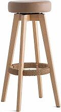 Lying Bar Stuhl, Hocker Bar Hocker Hocker Massivholz Seil Rotation Einfache Haushalt Wohnzimmer Umkleidekabine Esszimmer W48cmxH74cm finden ( Farbe : B )