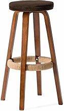 Lying Bar Stuhl, hohe Hocker Bar Hocker Massivholz Circular Kissen Haushalt Einfache Mode Exotische Café Schmuck Shop W45cmxH70.5cm finden ( Farbe : C )