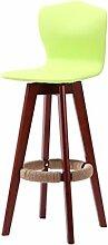Lying Bar Stuhl, hohe Rückenlehne Stuhl Bar Hocker Hocker Massivholz Kreative Rotation Einfache Mode Salverform Bar Outdoor Esszimmer W48cmxH93cm finden ( Farbe : B )