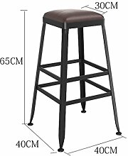 Lying Bar Stuhl, Home Bar Stuhl Bar Hocker Stuhl Hohe Hocker Massivholz Eisen Moderne Einfache Bar Outdoor Esszimmer Ultra Hohe Ausdauer H: 45/65 / 75cmx40cm finden ( größe : 65cm )