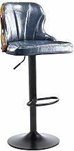 Lying Bar-Stuhl, kreativer Massivholz-Aufzug-Stuhl-Stab-Stuhl europäischer Art-KTV-Stab-Stuhl-Korruption-Zähler-Eisen-Hocker-hoher Hocker drehen Sessel 40 * 90-110cm finden ( Farbe : J )
