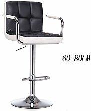 Lying Bar Stuhl Lifting Stuhl Zurück High Stuhl Esszimmer Stuhl Vorderseite Counter Shop Business Kassierer Stuhl Nail Shop Stuhl Schönheit Stuhl Bar Hocker 60-80cm finden ( Farbe : #3 )