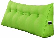 Lying Bedside Sofa Triangle Solid Color Kissen Dimensionale Rückenlehne schützen die Taille Kissen Büro Back Pad Lendenwirbel weichen Fall Taille Auflage Bett Stoff Kissen Taille Kissen Hals Kissen finden ( Farbe : #1 , größe : 120*50*20CM )