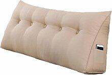 Lying Bedside Triangle Solid Color Kissen Dimension Sofa Rückenlehne Schützen Sie die Taille Kissen Büro Back Pad Lendenwirbel Weiche Fall Taille Auflage Bett Stoff Kissen Taille Kissen Hals Kissen finden ( Farbe : #3 , größe : 135*50*20CM )