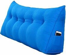 Lying Bedside Triangle Solid Color Kissen Dimension Sofa Rückenlehne Schützen Sie die Taille Kissen Büro Back Pad Lendenwirbel Weiche Fall Taille Auflage Bett Stoff Kissen Taille Kissen Hals Kissen finden ( Farbe : #1 , größe : 100*50*20CM )