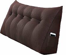 Lying Bedside Triangle Solid Color Kissen Dimension Sofa Rückenlehne Schützen Sie die Taille Kissen Büro Back Pad Lendenwirbel Weiche Fall Taille Auflage Bett Stoff Kissen Taille Kissen Hals Kissen finden ( Farbe : #2 , größe : 120*50*20CM )