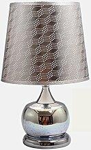 Lying Goldene Lampe, kreative Schlafzimmer Nachttisch Lampe Dekoration Kleine Schreibtisch Lampe Nachttisch Lampe Hochzeit Moderne Einfache Lampe Single E27, Schaltflächenschalter finden ( Farbe : B )