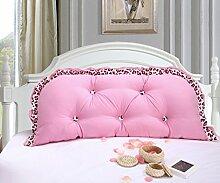 Lying Kissen Doppelbett Große Rückenlehne Lange Kissen können gewaschen und gewaschen Kissen Home Bedside Sofa Pillow finden ( Farbe : A , größe : 1.2M )