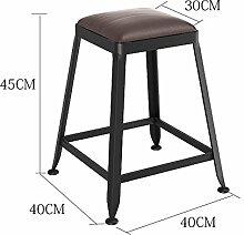 Lying Massivholz Bar Stuhl, Bar Hocker Hocker Bar Stuhl Empfang Stuhl Haushalt Stuhl Hochstuhl Hochhocker Modern Einfach Eisen finden ( Farbe : #1 , größe : 45 cm )