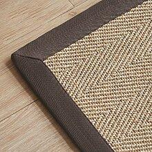 Lying Pflanze Weave Türmatten Einfache Teppich Kreative Mode Teppich Study Schlafzimmer Wohnzimmer Kaffee Mats Sofa Bedside Matten Studie Computer Stuhl Kissen finden ( Farbe : B , größe : 50*80CM )