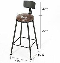 Lying Retro Bar Hocker, Bar Eisen Bar Stuhl Massivholz Bar Stuhl Stuhl Stuhl Stuhl Stuhl Stuhl Restaurant Hocker Höhe 71-101cm finden ( Farbe : B , größe : 46*46*101cm )