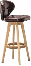 Lying Retro Bar Hocker Massivholz Bar Stuhl, drehbare Kaffeehaus Hocker Restaurant Hocker Esszimmer Hocker Kaffee Stuhl Kassierer Hochstuhl Stuhl Stuhl Haushalt Rückenlehne Esszimmerstuhl 74cm finden ( Farbe : #6 )