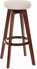 Lying Retro Circular Bar Hocker Bar Stuhl, Massivholz Restaurant Hocker Kaffeestuhl Kassierer Hocker Stuhl Hochhocker Hochstuhl Haushalt Esszimmer Hocker Esszimmer Stuhl finden ( Farbe : #1 , größe : 65cm )