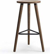 Lying Retro Massivholz Hocker, Bar Stuhl Bar Counter Hocker Restaurant Stuhl Esszimmer Hocker Coffee Shop Business Hall Haushalt Einfache Tabelle Hochstuhl 32 * 32 * 66.5CM finden ( größe : 32*32*66.5CM )
