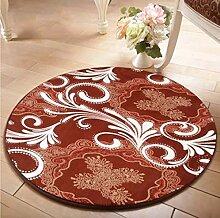 Lying Rund Teppich Computer Stuhl Drehstuhl Hocker Korb Korb Nacht Beleg Waschen Teppich finden ( Farbe : A , größe : 60 )