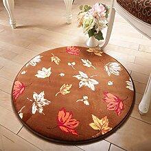 Lying Rund Teppich Computer Stuhl Drehstuhl Hocker Korb Korb Nacht Beleg Waschen Teppich finden ( Farbe : F , größe : 160CM )