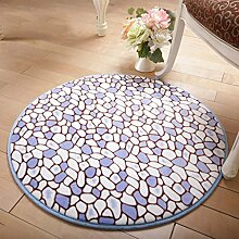 Lying Rund Teppich Computer Stuhl Drehstuhl Hocker Korb Korb Nacht Beleg Waschen Teppich finden ( Farbe : B , größe : 80cm )
