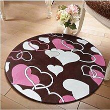 Lying Rund Teppich Computer Stuhl Drehstuhl Hocker Korb Korb Nacht Beleg Waschen Teppich finden ( Farbe : B , größe : 140CM )