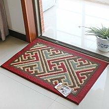 Lying Rutschhemmende Tür electro Teppich Matratze Tür Eingangshalle Mat Mat finden ( Farbe : D , größe : 80*110CM )