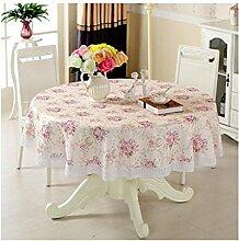 Lying Tischdecke-schöne Gewebe-runde Tischdecke Europäische Art-Tapete Staubdichte Tischdecke - Tischtuchdekoration ( Farbe : A , größe : 220*220cm )