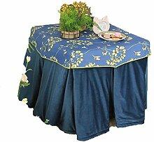 Lying Tischdecke, Verdickung Druck Tischdecke Retro Royal Blue Tischdecke Speichern Sie die Temperatur Tischdecke Esstisch Schachtisch Elektroheizung Abdeckung Tuch Größe 70-80 * 70-80 * 68cm - Tischtuchdekoration ( Farbe : 70*70*68cm )