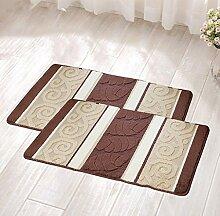 Lying Türmatten Wasserabsorbierung Rutschfeste Fußauflage Home Teppich Schlafzimmer Bad Flur Badematten WC-Matten Teppich find ( Farbe : Braun , größe : 60*90CM )