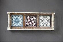 Lying Wanddekoration Rahmen, Blumentopf Rack Massivholz Schindel Kreativ Lagerung Rack Schrank Shop Möbel Nostalgie Retro Pastoral 80 * 13 * 30cm finden ( größe : 80*13*30cm )