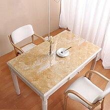 Lying Wasserdichte Tischdecke, PVC Marmor Muster Tischset Esstisch Couchtisch TV Schrank Tischdecke Soft Tischset Glas Tisch Tischset Restaurant Cafe Tischdecke Länge 60-180 cm - Tischtuchdekoration ( Farbe : B , größe : 90*140cm )