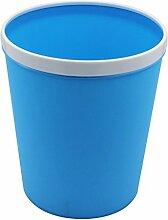 LYL Creative Fashion Home Wohnzimmer Küche Badezimmer Mülleimer Press Circle Design ohne Cover Trash (22,5 * 17,5 * 25) ( Farbe : Blau )