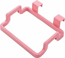 LYL Mode kreativ kann hängen Küche Müllsäcke Regal, Schrank Tür Müllsack Rack hängen Plastikbeutel Mülleimer ( Farbe : Pink )