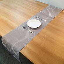 LYLLXL Tischläufer,Chinesische Art Grau