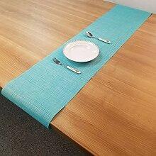 LYLLXL Tischläufer,Chinesische Art Hellblau