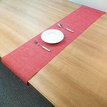 LYLLXL Tischläufer,Chinesische Art Rot