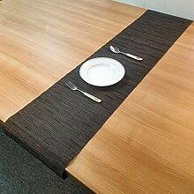 LYLLXL Tischläufer,Chinesische Art Schwarz