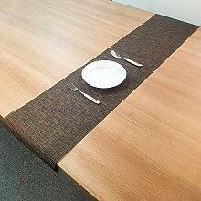 LYLLXL Tischläufer,Chinesische Art Schwarzbraun