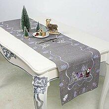 LYLLXL Tischläufer,Elegante Graue