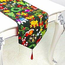 LYLLXL Tischläufer,Elegante Grüne