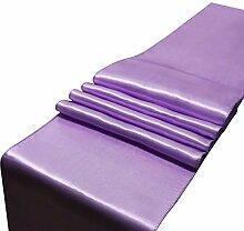LYLLXL Tischläufer,Elegante Lavendel Plain Dyed