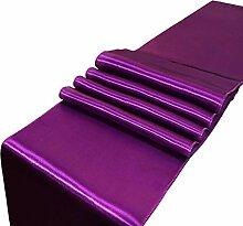 LYLLXL Tischläufer,Elegante Plum Plain Dyed