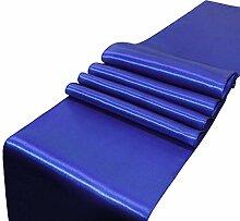 LYLLXL Tischläufer,Elegante Royal Blue Plain Dyed