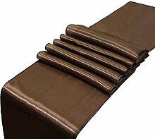 LYLLXL Tischläufer,Elegante Schokoladenfarbe