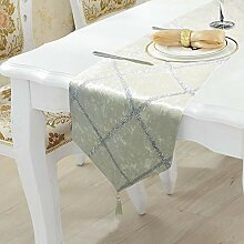 LYLLXL Tischläufer,Elegante Weiße Flanell