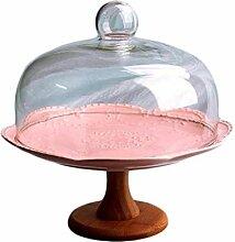 LYLSXY Geschirr, Hotel Sandwich Salat-Tablett Glas