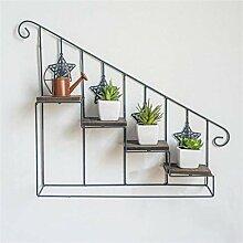 LYLSXY Pflanzenständer, 4 Stufe Leiter Blume
