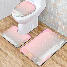 LYM 3pc Badezimmer Set Teppich Contour Mat