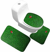 LYM Anti-Rutsch-Teppiche, 3-teiliges WC-Vorleger,