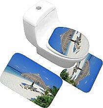LYM Badvorleger 3-teiliges Set WC-Abdeckung