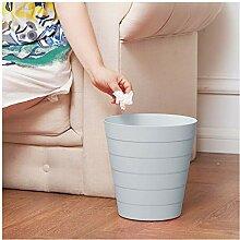 LYM Haus & Küche Blau Einfache Runde Trash ohne