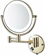 LyMei Beleuchtete Schminkspiegel, Gold Make-up